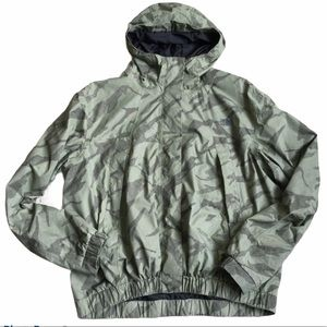The North Face Green Camo Jacket Hood Zip Up